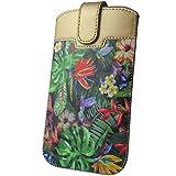 Handyschale24 Slim Case für ZTE Star 2 Handytasche Dschungel Blumen Design Schutzhülle Tasche Cover Etui mit Magnetverschluss
