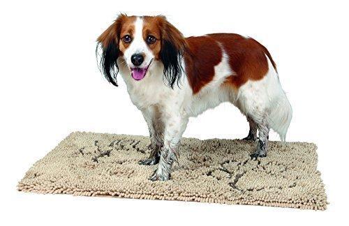 Microfiber Estera de retención de suciedad para perro, 100 × 70 cm, beis