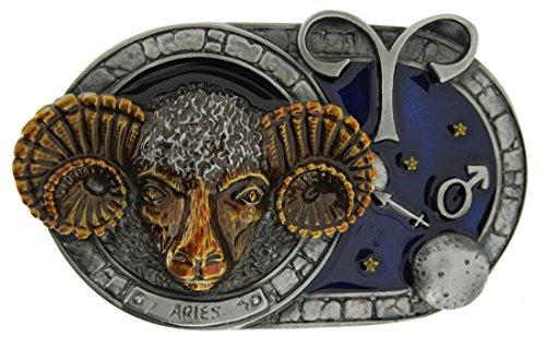Zodiac Star Sign Aries Gürtelschnalle in einer meiner Präsentationsschachteln.