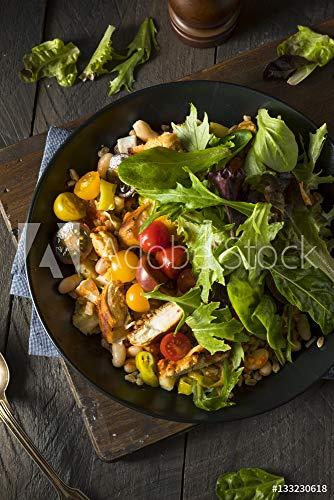 druck-shop24 Wunschmotiv: Healthy Organic Mediterranean Buddha Farro Grain Bowl #133230618 - Bild auf Alu-Dibond - 3:2-60 x 40 cm / 40 x 60 cm