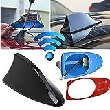 Aileron Fenlang de dissimulation d'antenne de voiture - Forme: aileron de requin - Couleur: noir - Vernis ABS adhésif