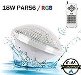 LED Poolbeleuchtung, iTobest PAR56 18W Farbwechsel Wireless RGB Fernbedienung...