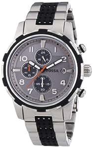 Fossil Herren-Armbanduhr XL Dean Chronograph Quarz verschiedene Materialien FS4888