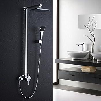 Auralum ensemble de douche syst me de douche colonne - Ensemble robinetterie salle de bain ...
