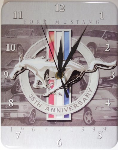 horloge-ford-mustang-cheval-stabile-neuf-26x20cm-u564