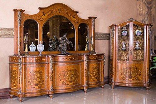 Credenza Con Vetrina Stile Inglese : Louisxv barocco sala da pranzo in stile antico replikat vitrina