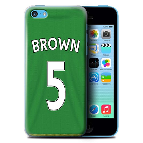 Offiziell Sunderland AFC Hülle / Case für Apple iPhone 5C / Pack 24pcs Muster / SAFC Trikot Away 15/16 Kollektion Brown