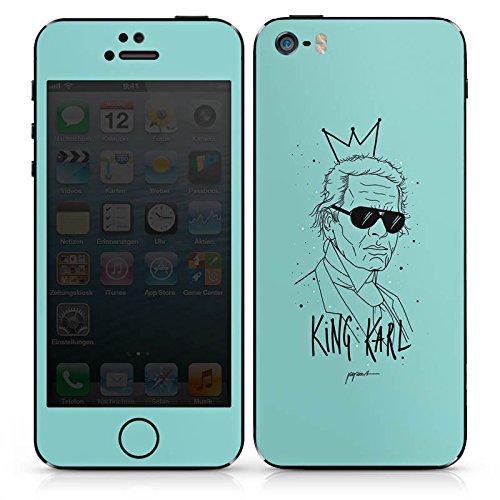 Apple iPhone SE Case Skin Sticker aus Vinyl-Folie Aufkleber Zeichnung Karl Lagerfeld Mode DesignSkins® glänzend