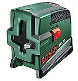 Bosch DIY Kreuzlinien-Laser PCL 20, Batterien, Universalhalterung, Schutztasche (Arbeitsbereich 10 m, +/- 0,5 mm/m Messgenauigkeit)
