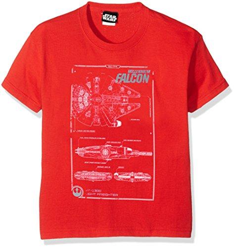 Star Wars Boy's Star Wars VII Millenium Falcon Maintenance Manual Short Sleeve T-Shirt