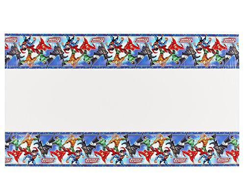 Amscan 5715851,2x 1,8m Liga de la Justicia de plástico funda para mesa