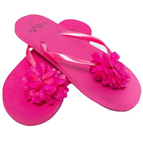 Donna Infradito / Sandali - Floral design fiore - 3 colori (Rosa, EU 36-37)