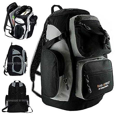XL City & Laptop Rucksack - Alltag & Sport Rucksack Schulrucksack Reise Rucksack Notebook Rucksack Daypack Backpack Damen Herren Schwarz