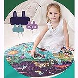 Holzpuzzle 48 Puzzleteile Kinderpapier Baby Kleinkind Puzzle Lernspielzeug für Kinder Lernspielzeug für Jungen und Mädchen von 3-6 Jahren,A