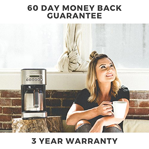 51ByiSGFYeL. SS500  - CRUX Instant Ground Electric Hot Coffee Maker Machine Kit - Pre-Programmable Settings - 10 Cups, Self Cleaning - Auto…