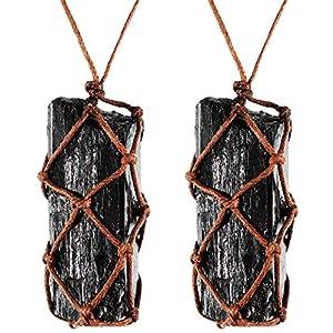 2 Piezas Collar de Cristal