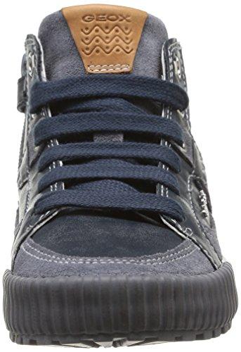 Geox Jr Mythos, Baskets mode garçon Bleu (Navy/Dark Grey)