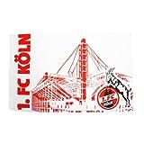 1. FC Köln Fahne Skyline