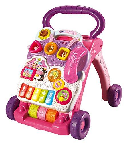 VTech Baby - Correpasillos andandín 2 en 1, Color Rosa, versión benelux