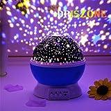 DPISZONE Romantic Sky Star Master Night Light Projector Children Kids Baby Sleep Lighting