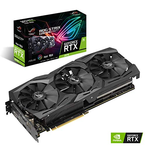 ASUS ROG STRIX NVIDIA GeForce RTX 2070 Advanced 8G Gaming Grafikkarte (PCIe 3.0, 8GB DDR6 Speicher, HDMI, Displayport, USB Type-C)