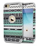 Dailylux iPod Touch 5 Hülle,iPod Touch 6 Hülle,3in1 Hybrid Schutzhülle Hart PC + Weiche Silikone Stoßfest Case Cover für Apple iPod Touch 5/6th Generation -Rhombusmuster