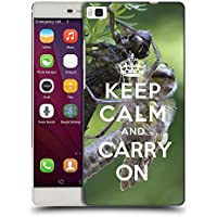 Super Galaxy Coque de Protection TPU Silicone Case pour // Q01013403 keep calm and carry on 620 // Huawei Ascend P8