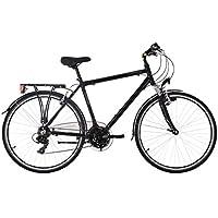 KS Cycling Herren Trekkingrad Herrenrad Zoll Canterbury RH 54 cm Flachlenker Fahrrad, Schwarz, 28