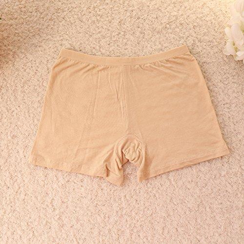 Unterhosen Unterwäsche Bambusfaser Damen Spitzen Leggings Hose Slip, Weiß 506 Greatlpk Skin color 506