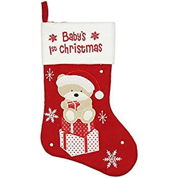 Blue Baby's First Christmas Stocking: Amazon.co.uk: Kitchen & Home