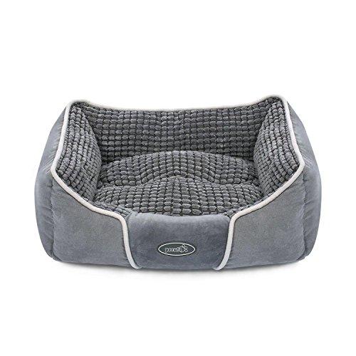Pecute Hundebett Haustierbett für Katzen und Hunde Rechteck Ultra Weicher Plüsch luxuriöse Haustier-Schlafsack Maschine waschbar (S)
