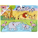 Safari Wooden Peg Puzzle by xs-toys