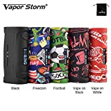 Genuino Vapor Storm Puma Baby 80 W TC Box MOD display OLED + Unico Graffiti Body sigaretta elettronica No E liquido No Nicotina (Nero)