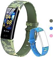 HOFIT Pulsera Actividad Para Niños, Reloj Inteligente con Podómetros, Monitor de Frecuencia Cardíaca y Sueño,