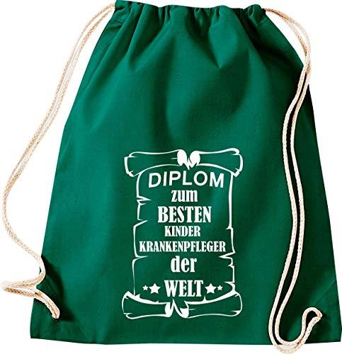 Camiseta stown Turn Bolsa Diploma para mejores infantil Enfermeras del Mundo, Gruen