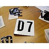 LEMAX® Aufkleber Selbstklebende Buchstaben und Ziffern, einzeln ausgestanzt, SH 250mm
