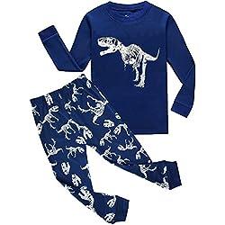 Garsumiss - Pijama para Niños de dinosaurio 1 Años - 9 Años