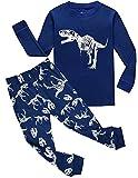 Garsumiss Baby Kinder Jungen Zweiteiliger Lange Schlafanzug Langarm Dinosaurier 2-9 Jahre Bekleidungsset 92 98 104 110 116 122