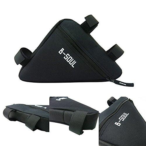uhbgt Outdoor Sport Mountain Fahrrad Tasche Triangle Rahmen Front Rahmen Tasche für Radfahren schwarz / rot