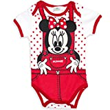 Disney Baby Minnie Maus Mädchen Body Kurzarm (71 (9 Monate) Rot Punkte)