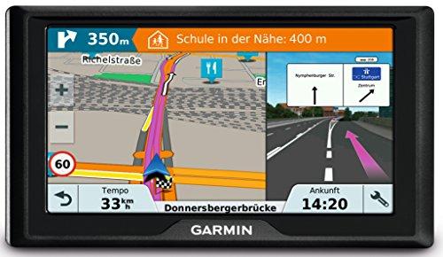 Garmin Drive 61 LMT-S CE Navigationsgerät - lebenslang Kartenupdates & Verkehrsinfos, Sicherheitspaket, 6 Zoll (15,2cm) Touchdisplay, schwarz