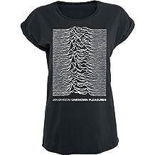JOYDIVISION Joy Division Unknown Pleasures Camiseta Mujer Negro