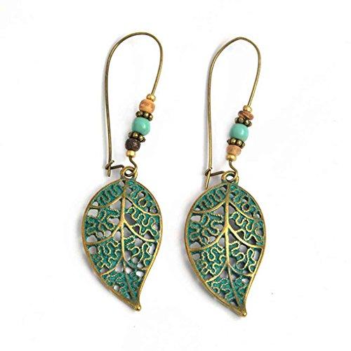Laileya gioielli 1 pair le donne della boemia di goccia orecchini etnici orecchini foglia ragazze pietra orecchini lady