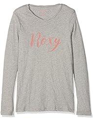 Roxy Gradual Awakening B Camiseta de Manga Larga, Niñas, Gris (Highrise Heather), 16/XXL
