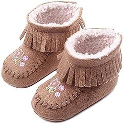 Neonata inverno caldo neve stivali infantile del pattini del prewalker 0-12 mesi