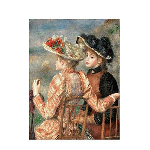 Leinwand Druck Plakat Wandbild Pierre Auguste Renoir Ölgemälde Auf Reproduktion Poster Und Drucke Skandinavische Pop-Art Wandbild Für Wohnzimmer