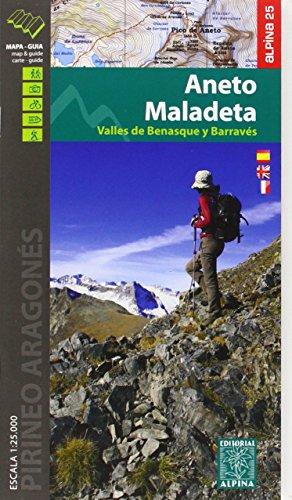 Maladeta Aneto (Vall de Benasque) carte&guide, m&hiking g. por Alpina Editorial SL