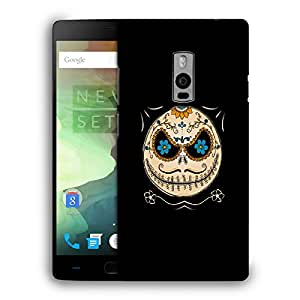 Snoogg Mustahce Face Designer Protective Back Case Cover For ONEPLUS TWO
