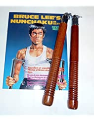 Chaku bois,naturel, roulement à billes - 30cm - avec Bruce Lee livre -livraison gratuite