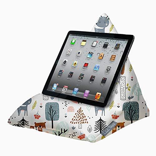 Designer Ipad, Tablette, E-Reader, Telefon Sitzsack Kissen Ständer - Weiche Haptik SAMT - Tier -...